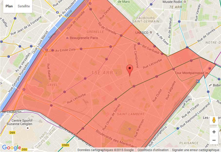 plan Paris 15