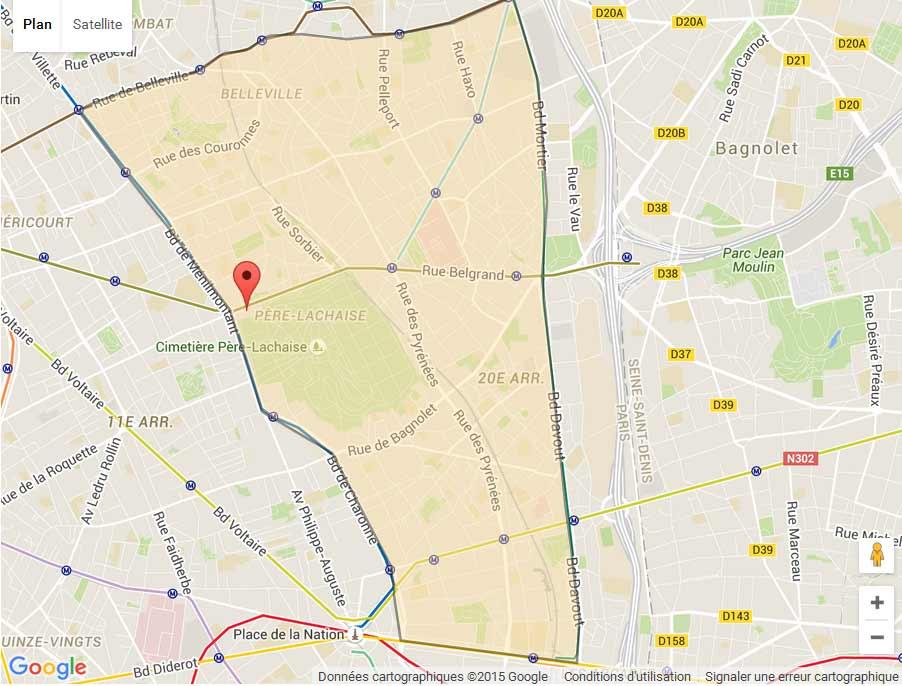 plan Paris 20