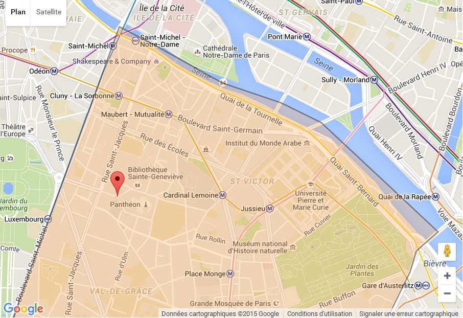 plan Paris 5