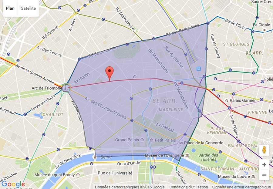 plan Paris 8