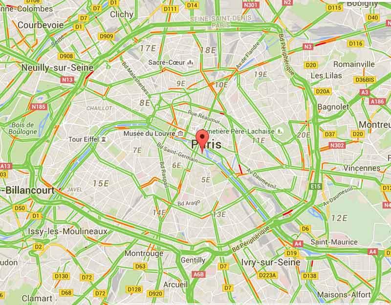 trafic Paris