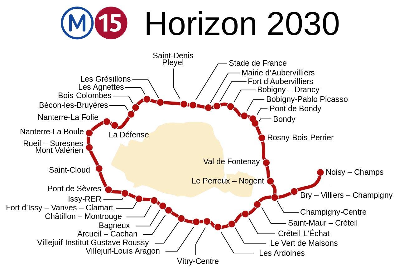 projet metro ligne 15 grand paris