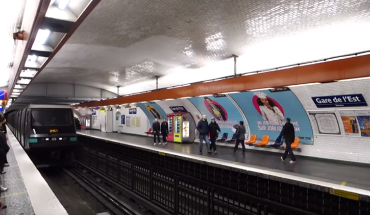metro Paris gare de l'Est