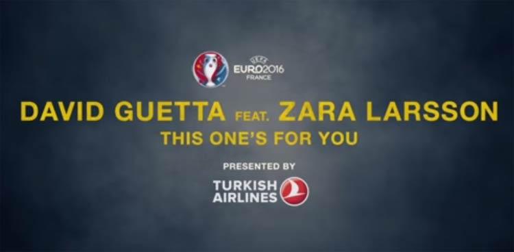 Euro 2016 official song David Guetta Zara Larsson