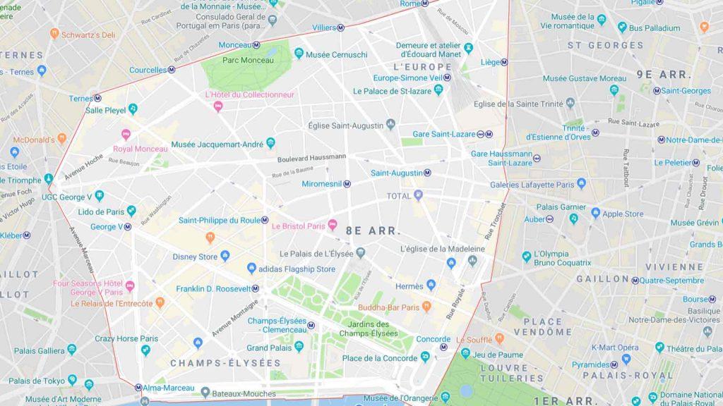 8e arrondissement de Paris 75008