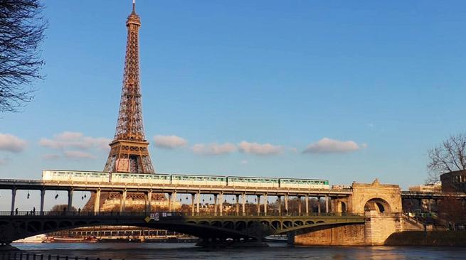 station aérienne du métro de Paris