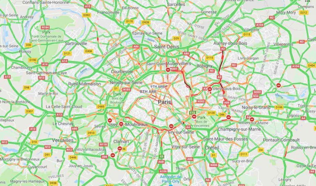 Trafic auto Ile-de-France