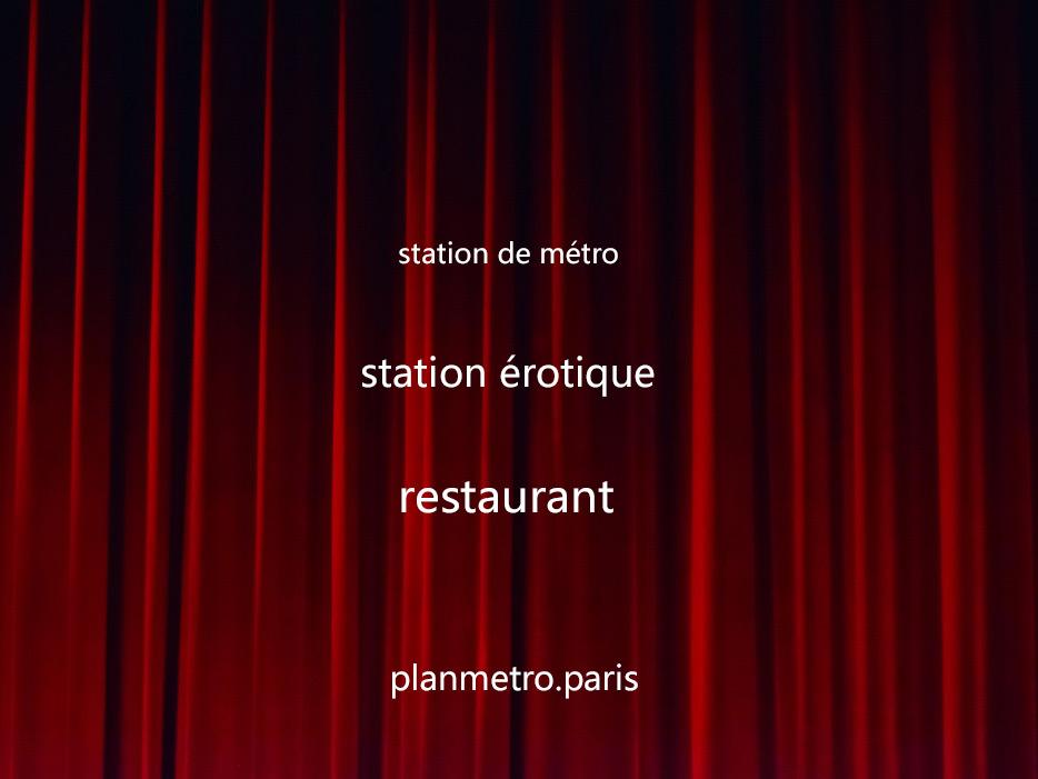 station métro images érotiques croix-rouge
